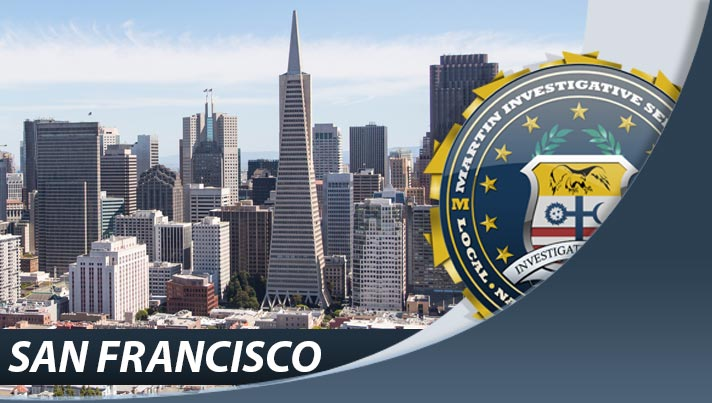 Private investigation from Martin Investigative Services, San Francisco office. One Embarcadero Center, Suite 500, San Francisco, CA 94111. By appointment only. (800) 577-1080