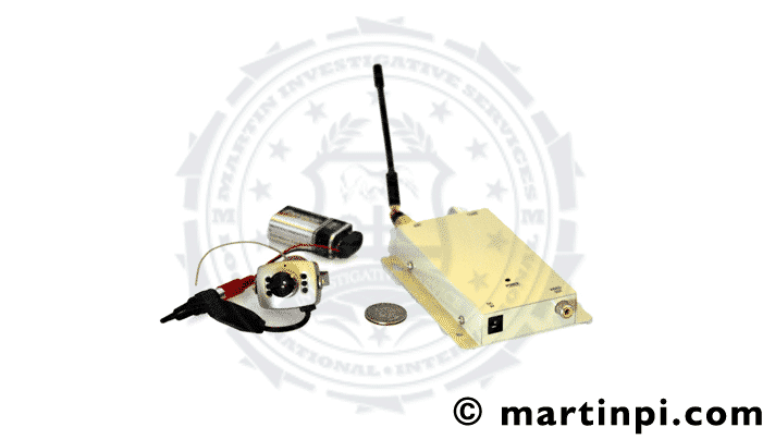 Wireless camera. Actual bug found during a bug sweep service. Martin Investigative Services. (800) 577-1080