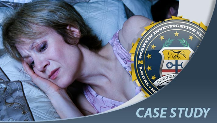 Case study: Cheating spouse case. Martin Investigative Services. (800) 577-1080