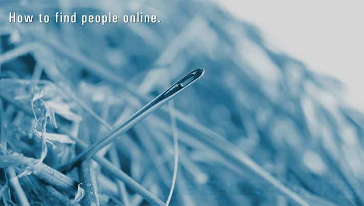 How to find people online. From Martin Investigative Services. (800) 577-1080