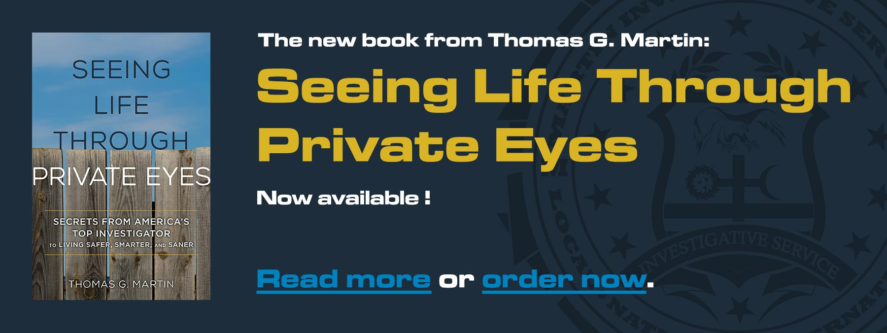 Seeing Life Through Private Eyes: The new book by Thomas G. Martin