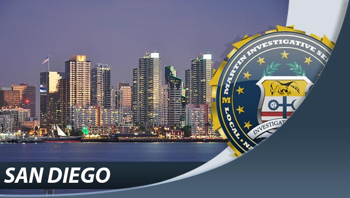 Private investigation from Martin Investigative Services, San Diego office. 4370 La Jolla Village Drive, Suite 400 San Diego, CA 92122-1249. By appointment only. (800) 577-1080