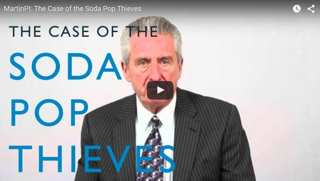 The Case of the Soda Pop Thieves. Video. Martin Investigative Services. (800) 577-1080