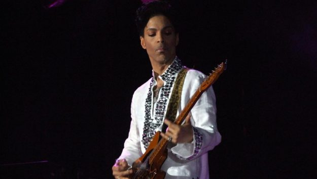 Prince at Coachella in 2008. Flickr user: Karppinen. This file is licensed under the Creative Commons Attribution-Share Alike 3.0 Unported license.