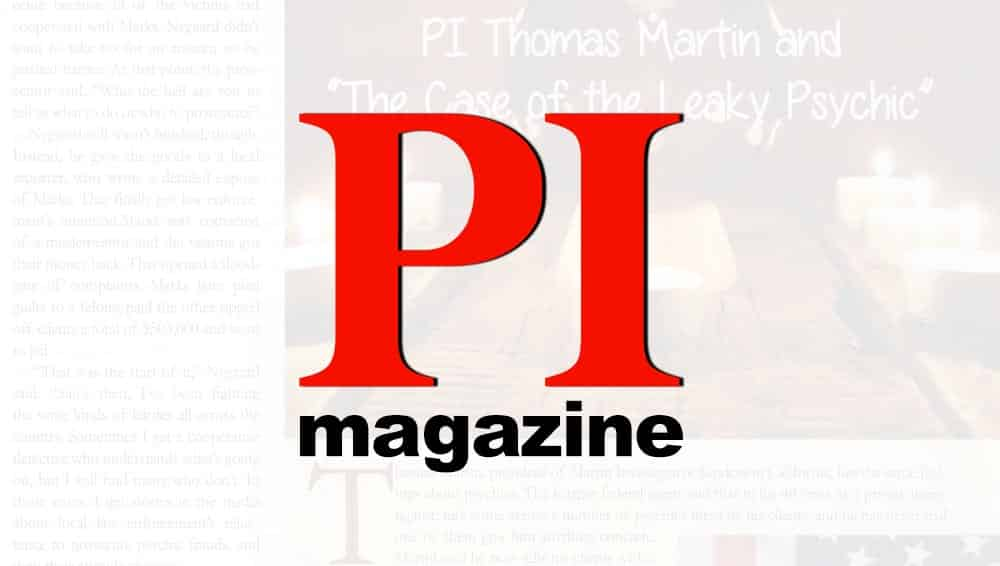 Thomas G. Martin is interviewed in this article for PI Magazine